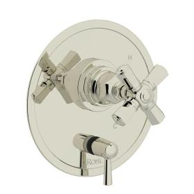 San Giovanni Pressure Balance Trim with Diverter - Polished Nickel with Cross Handle