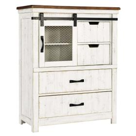 Wystfield Four Drawer Chest White/Brown