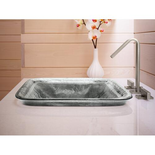 Opaque Sandalwood Glass Vessel Bathroom Sink In Opaque Sandalwood