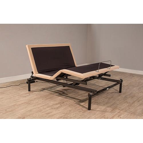 Gallery - Kerstein Adjustable Queen Storage Bed Set - Orly Gray