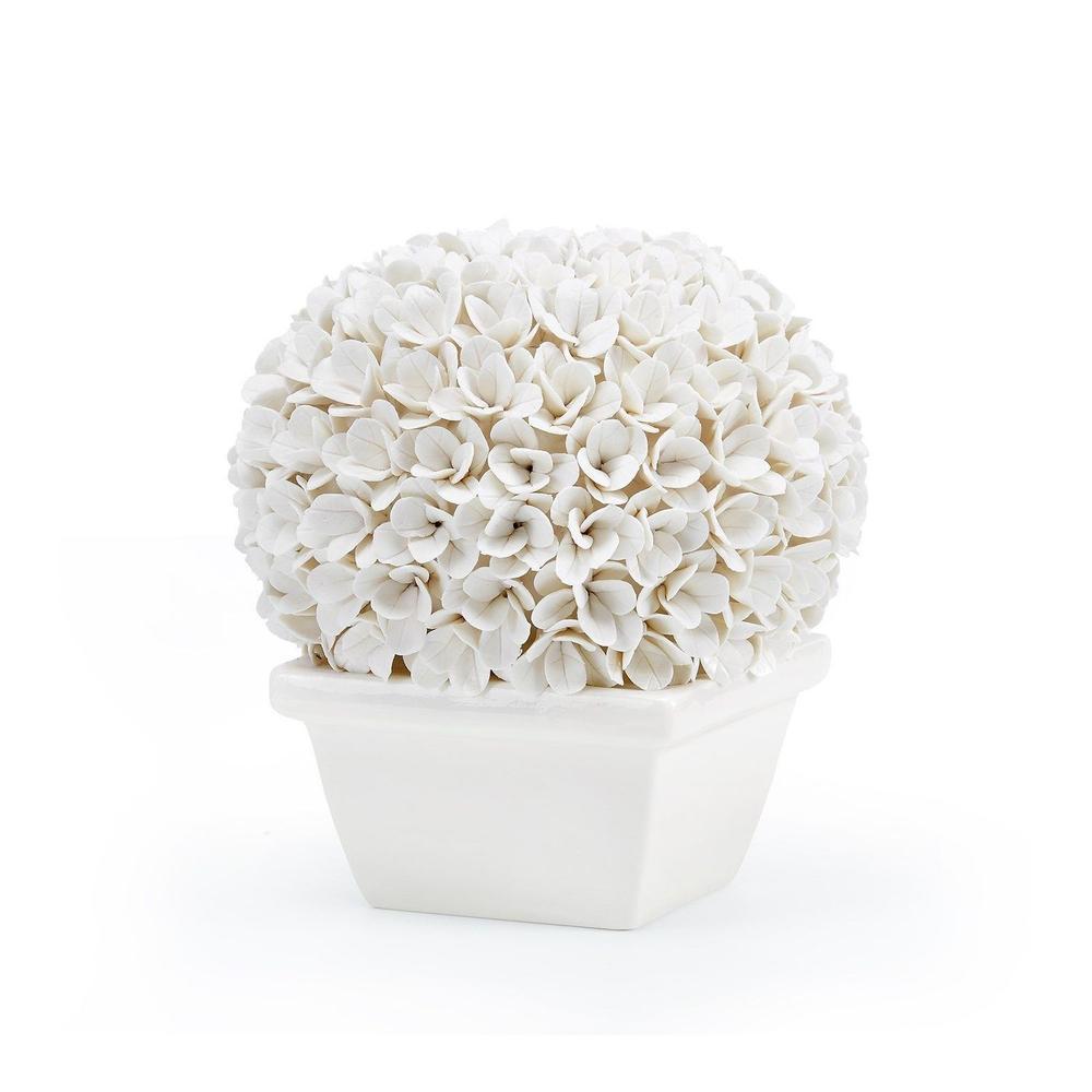See Details - Boston Round Boxwood Topiary, White