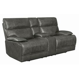 Standford Casual Charcoal Power Loveseat