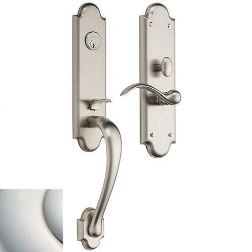 Polished Nickel with Lifetime Finish Boulder 3/4 Escutcheon Trim