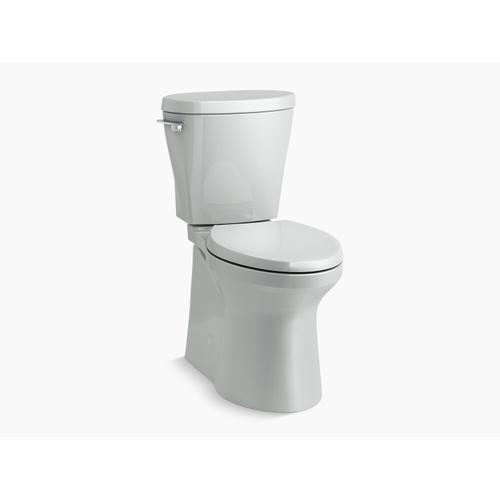 Kohler - Ice Grey Betello(tm) Comfort Height Two-piece Elongated 1.28 Gpf Toilet Skirted Trapway, Revolution 360 Swirl Flushing Technology and Left-hand Trip Lever, Seat Not Included