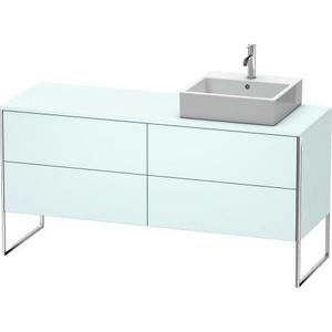 Vanity Unit For Console Floorstanding, Light Blue Matte (decor)