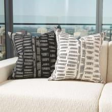 See Details - Frequency Pillow-Black/Beige