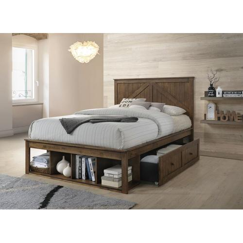 3015 Ashland Youth Full Bed Brown Complete