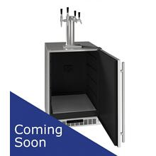 "24"" 4 Tap Beer, Coffee, & Wine Dispenser With Stainless Solid Finish (230 V/50 Hz Volts /50 Hz Hz)"