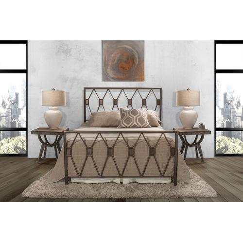 Tripoli Full Bed Set With Rails (black Pewter)