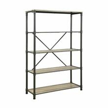 ACME Itzel Bookshelf - 92200 - Antique Oak & Sandy Gray
