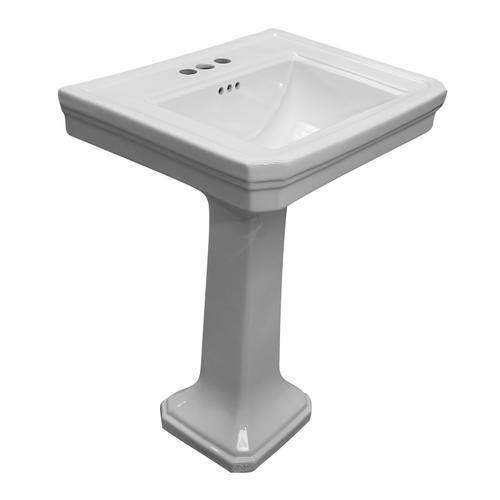 "Drew 610 Pedestal Lavatory - 4"" Centerset"