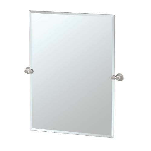 Channel Rectangle Mirror in Satin Nickel