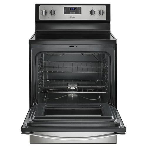 Product Image - 4.8 Cu. Ft. Freestanding Electric Range with FlexHeat Dual Radiant Element Black-on-Stainless