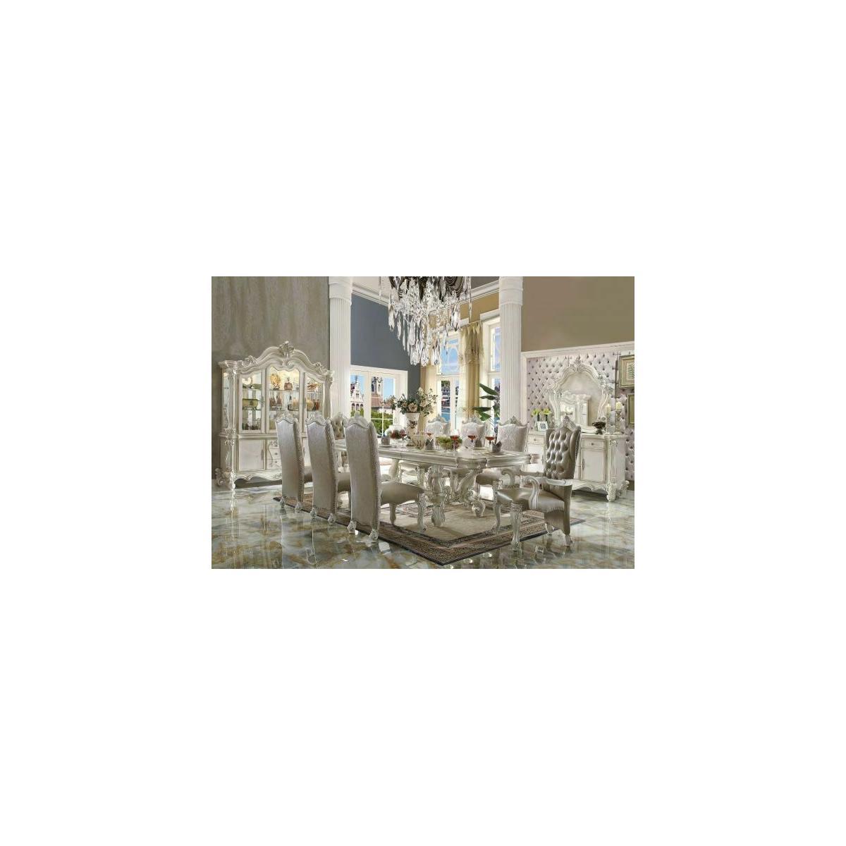 ACME Versailles Dining Table - 61130 - Bone White
