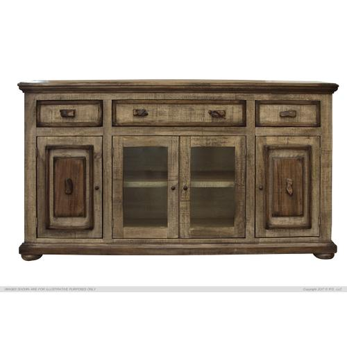 Gallery - 3 Drawer, 2 Glass & 2 Wooden Doors Console