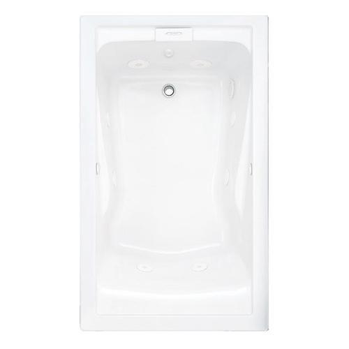 Evolution 60x32 inch Deep Soak Massage Tub - Arctic White