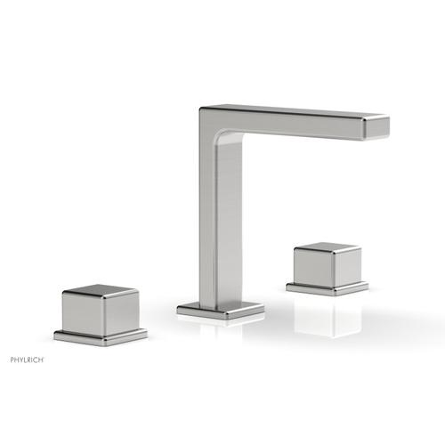 """MIX Widespread Faucet - Cube Handles 6-3/4"""" Height 290-04 - Satin Chrome"""