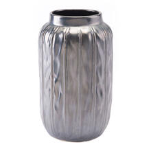 Small Antique Vase Metallic Gray
