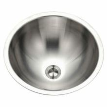 Conical Topmount Stainless Steel Bowl Lavatory Sink
