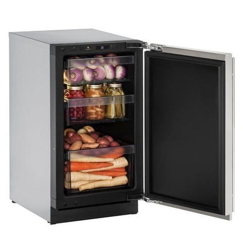 """18"""" Refrigerator With Stainless Solid Finish and Field Reversible Door Swing (115 V/60 Hz Volts /60 Hz Hz)"""