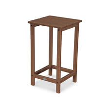 "Teak Long Island 26"" Counter Side Table"