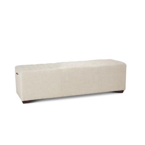 """D'Orsay 58"""" Upholstered Linen Bench"""