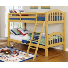 Ryder Yellow Twin over Twin Bunkbed