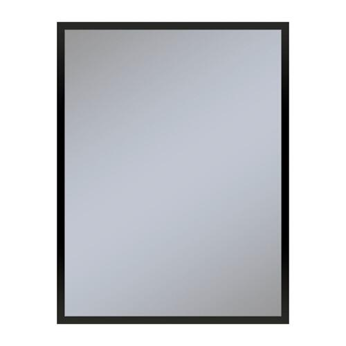 "Profiles 23-1/8"" X 29-7/8"" X 3/4"" Framed Mirror In Matte Black"