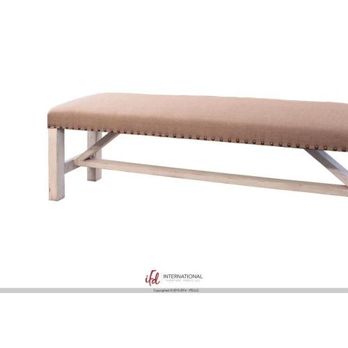 Breakfast & Bedroom Bench - Upholstered Seat 100% Polyester With a Linen Appearance