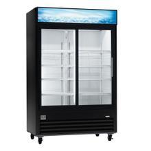 Digital Cabinets Glass Door Merchandiser, 47 cu.ft, Black