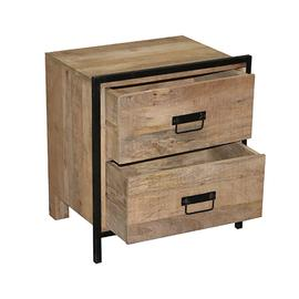 See Details - Nightstand - Natural/Iron Finish