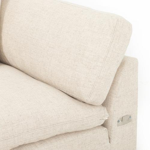 """Left Arm Facing Configuration Thames Cream Cover Plume Two-piece Sectional-106"""""""