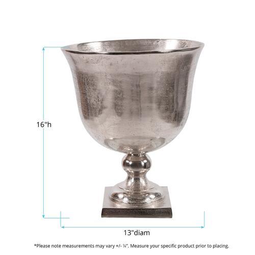 Howard Elliott - Bright Raw Silver Aluminum Footed Bowl