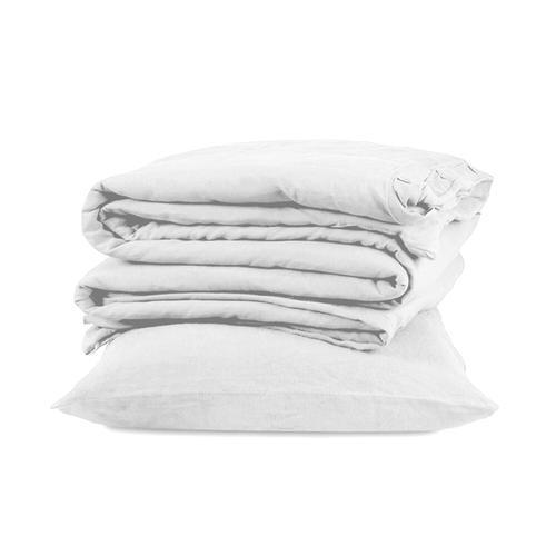 Royal Linen 3pc Duvet Cover Set - King / Grey