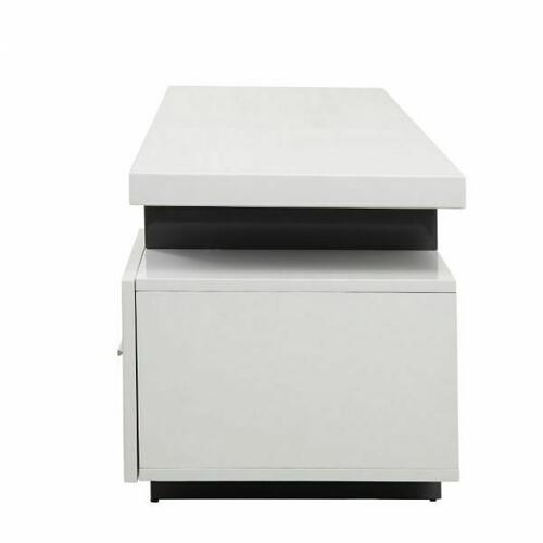 ACME Vicente TV Stand - 91302 - White & Gray