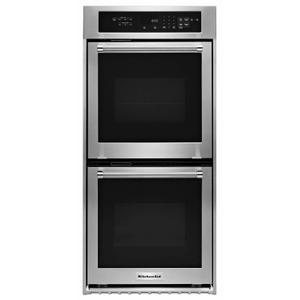 """KitchenAid24"""" Double Wall Oven with True Convection - Stainless Steel"""