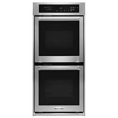 """KitchenAid - 24"""" Double Wall Oven with True Convection - Stainless Steel"""