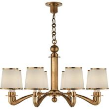 AERIN Tuileries 8 Light 36 inch Hand-Rubbed Antique Brass Chandelier Ceiling Light