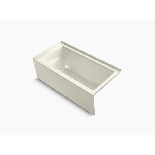 "Biscuit 60"" X 30"" Alcove Bath With Integral Apron, Integral Flange and Right-hand Drain"