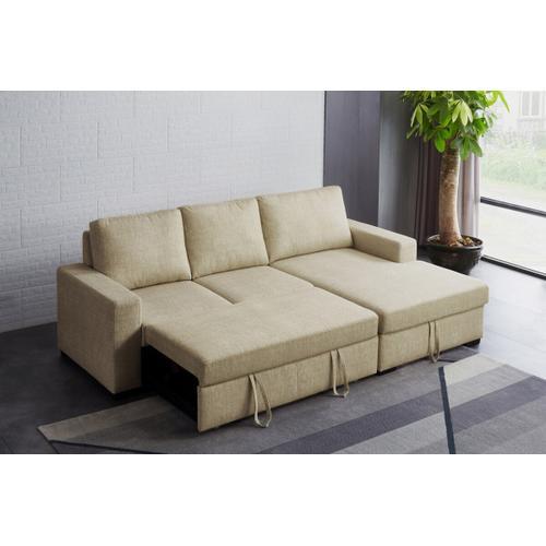 VIG Furniture - Divani Casa Nebula - Modern Beige Fabric Sofa Bed