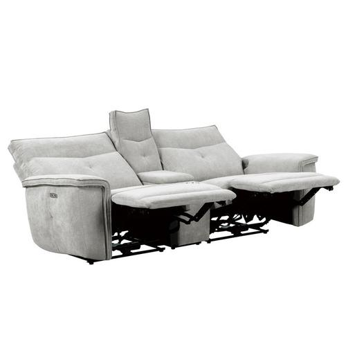 Homelegance - Power Double Reclining Love Seat with Center Console and Power Headrests