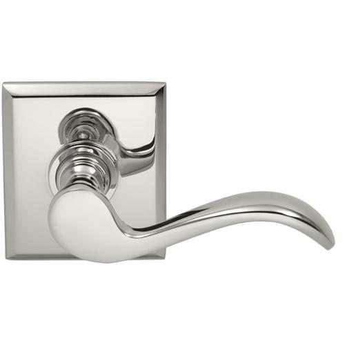 Product Image - Interior Traditional Lever Latchset with Rectangular Rose in (US14 Polished Nickel Plated, Lacquered)