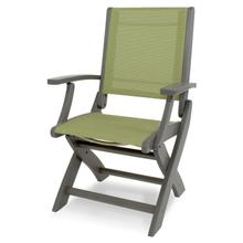 Slate Grey & Kiwi Coastal Folding Chair