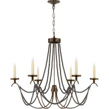 View Product - E. F. Chapman Marigot 6 Light 33 inch Hand Painted Rust Finish Chandelier Ceiling Light