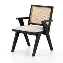 Drifted Matte Black Finish Flora Dining Chair