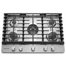 "See Details - 30"" 5-Burner Gas Cooktop - Stainless Steel"