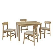Dining Table w/ 4 Chairs - Natural Finish