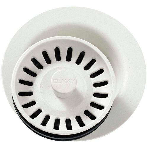 """Elkay - Elkay Polymer 3-1/2"""" Disposer Flange with Removable Basket Strainer and Rubber Stopper Parchment"""