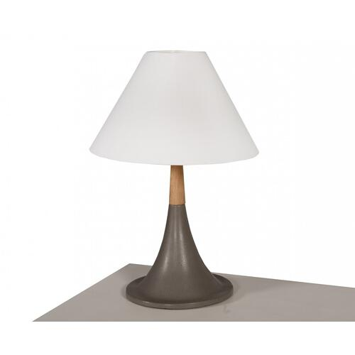 VIG Furniture - Modrest Nunez Modern Concrete & Oak Table Lamp