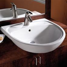 Mezzo Semi-Countertop Bathroom Sink - White